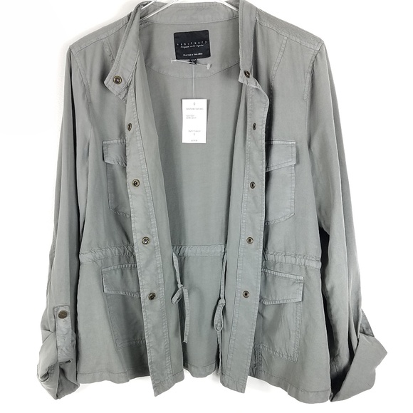 591b309dec65 Sanctuary Safari Jacket Shirt Elephant Gray